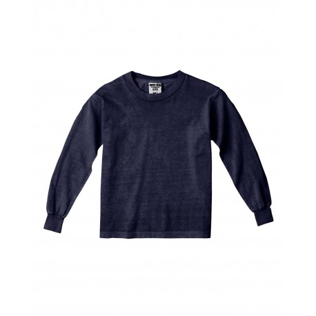 C3483 Comfort Colors C3483 Youth 5.4 oz. Garment-Dyed Long-Sleeve T-Shirt TRUE NAVY