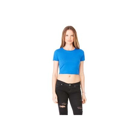 6681 Bella + Canvas 6681 Ladies' Poly-Cotton Crop T-Shirt TRUE ROYAL