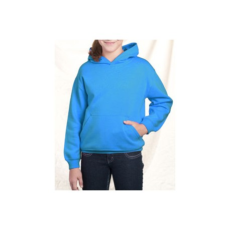 2296 LAT 2296 Youth Fleece Hooded Pullover Sweatshirt With Pouch Pocket TURQUOISE