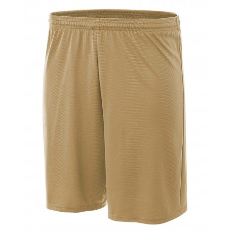 NB5281 A4 NB5281 Youth Cooling Performance Power Mesh Practice Shorts VEGAS GOLD