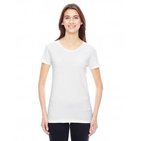 04860C1 Alternative 04860C1 Ladies' Vintage Garment-Dyed Distressed T-Shirt VINTAGE WHITE