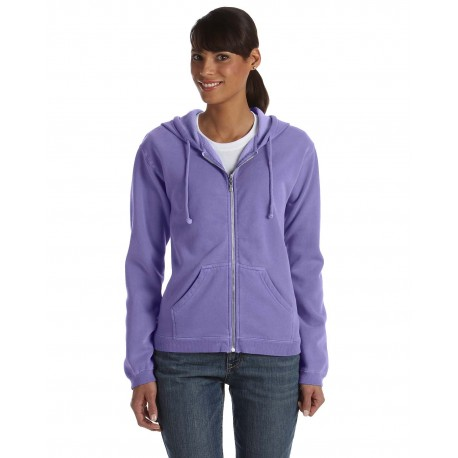 C1598 Comfort Colors C1598 Ladies' Full-Zip Hooded Sweatshirt VIOLET