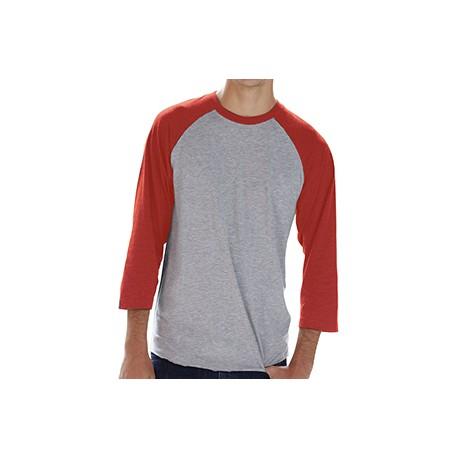 6930 LAT 6930 Men's Baseball Fine Jersey T-Shirt VN HTHR/VN RED
