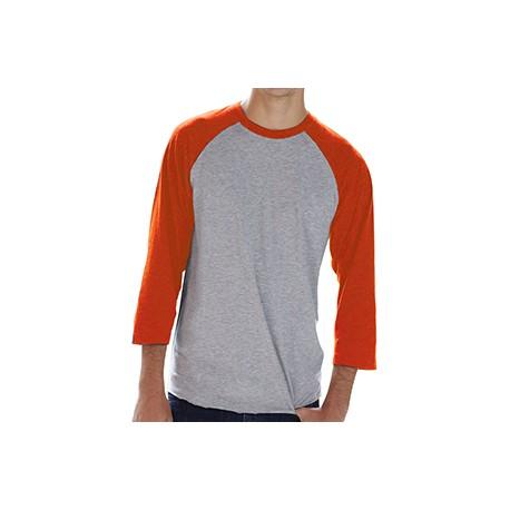 6930 LAT 6930 Men's Baseball Fine Jersey T-Shirt VN HTR/VN ORG