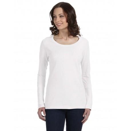 399 Anvil 399 Ladies' Featherweight Long-Sleeve Scoop T-Shirt WHITE