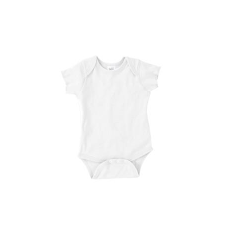 4400 Rabbit Skins 4400 Infant Baby Rib Bodysuit WHITE