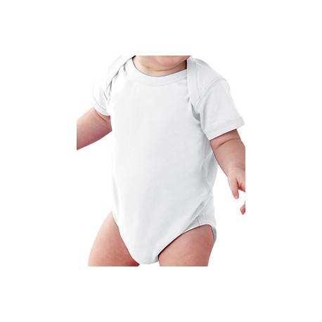 4424 Rabbit Skins 4424 Infant Fine Jersey Bodysuit WHITE