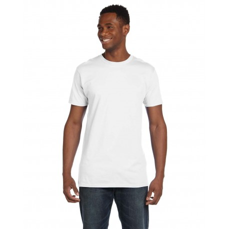 4980 Hanes 4980 Adult 4.5 oz., 100% Ringspun Cotton nano-T T-Shirt WHITE