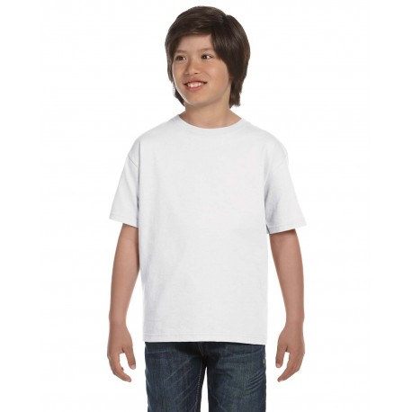5380 Hanes 5380 Youth 6.1 oz. Beefy-T WHITE