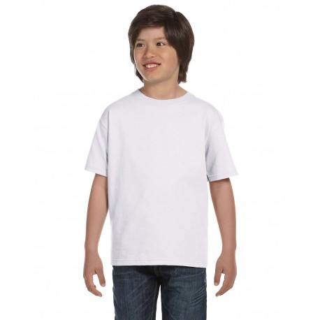 5480 Hanes 5480 Youth 5.2 oz. ComfortSoft Cotton T-Shirt WHITE