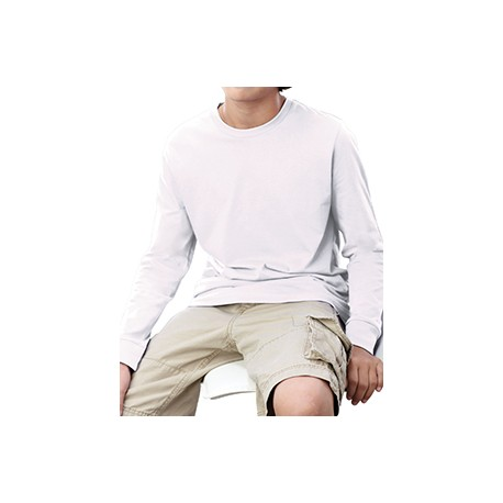 6201 LAT 6201 Youth Long-Sleeve T-Shirt WHITE