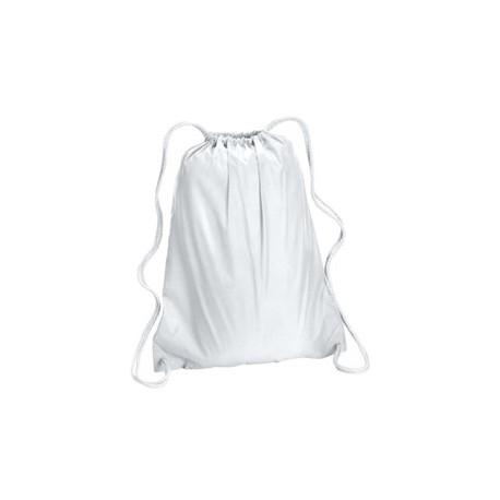 8882 Liberty Bags 8882 Large Drawstring Backpack WHITE