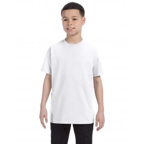 54500 Hanes 54500 Youth 6.1 oz. Tagless T-Shirt WHITE