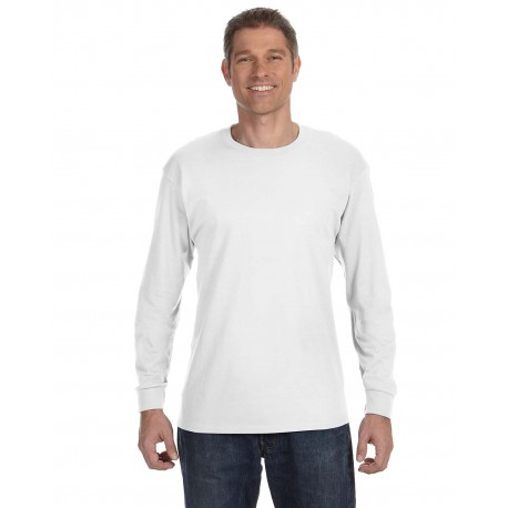 29L Jerzees 29L Adult 5.6 oz. DRI-POWER ACTIVE Long-Sleeve T-Shirt WHITE