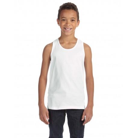 3480Y Bella + Canvas 3480Y Youth Jersey Tank WHITE