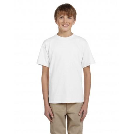 3931B Fruit of the Loom 3931B Youth 5 oz. HD Cotton T-Shirt WHITE