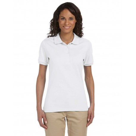 437W Jerzees 437W Ladies' 5.6 oz. SpotShield Jersey Polo WHITE