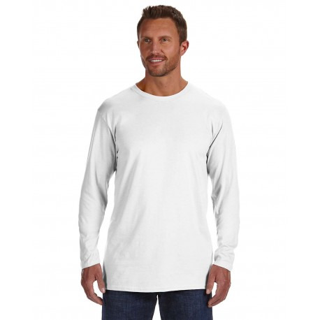 498L Hanes 498L Adult 4.5 oz., 100% Ringspun Cotton nano-T Long-Sleeve T-Shirt WHITE
