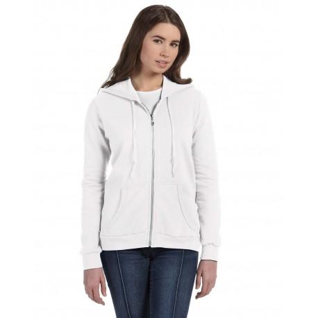 71600L Anvil 71600L Ladies' Full-Zip Hooded Fleece WHITE