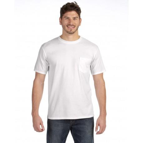 783AN Anvil 783AN Adult Midweight Pocket T-Shirt WHITE