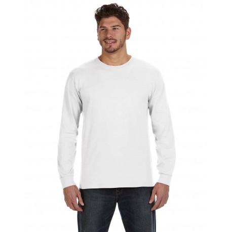 784AN Anvil 784AN Adult Midweight Long-Sleeve T-Shirt WHITE