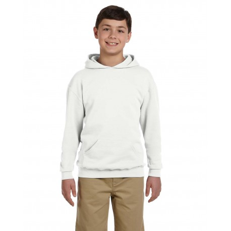 996Y Jerzees 996Y Youth 8 oz. NuBlend Fleece Pullover Hood WHITE