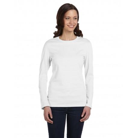 B6500 Bella + Canvas B6500 Ladies' Jersey Long-Sleeve T-Shirt WHITE