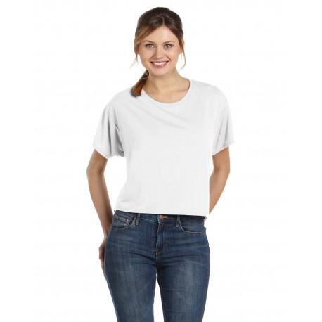 B8881 Bella + Canvas B8881 Ladies' Flowy Boxy T-Shirt WHITE