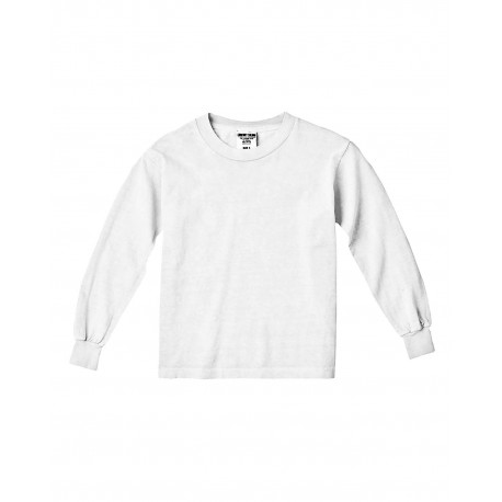 C3483 Comfort Colors C3483 Youth 5.4 oz. Garment-Dyed Long-Sleeve T-Shirt WHITE