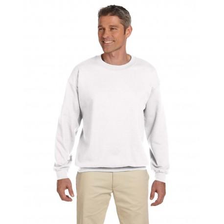 F260 Hanes F260 Adult 9.7 oz. Ultimate Cotton 90/10 Fleece Crew WHITE