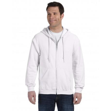 G186 Gildan G186 Adult Heavy Blend Adult 8 oz., 50/50 Full-Zip Hood WHITE