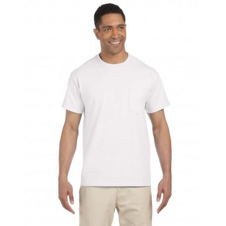 G230 Gildan G230 Adult Ultra Cotton 6 oz. Pocket T-Shirt WHITE