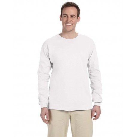 G240 Gildan G240 Adult Ultra Cotton 6 oz. Long-Sleeve T-Shirt WHITE