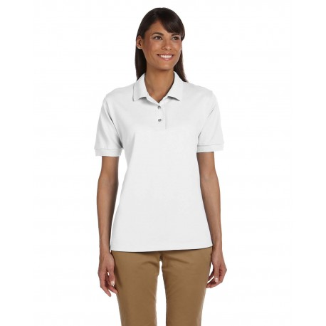 G380L Gildan G380L Ladies' Ultra Cotton Ladies' 6.3 oz. Pique Polo WHITE