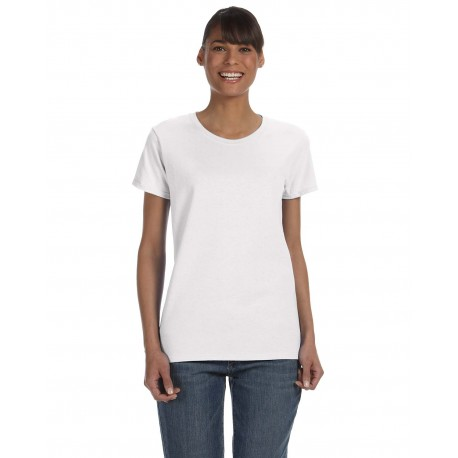 G500L Gildan G500L Ladies' 5.3 oz. T-Shirt WHITE
