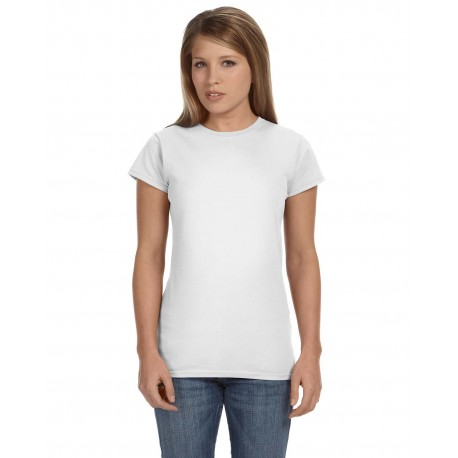 G640L Gildan G640L Ladies' Softstyle 4.5 oz. Fitted T-Shirt WHITE