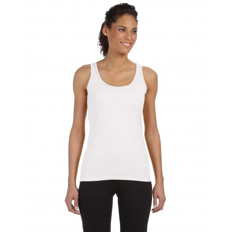 G642L Gildan G642L Ladies' Softstyle 4.5 oz. Fitted Tank WHITE