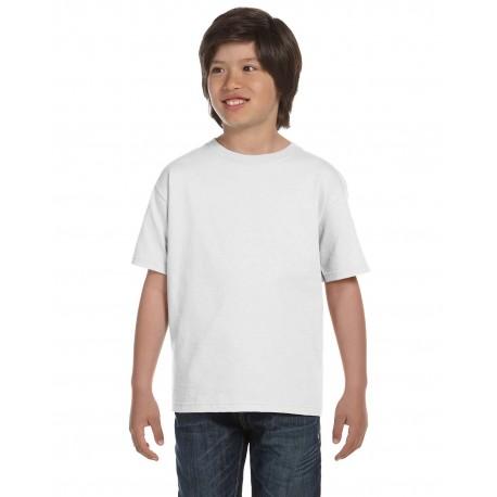 G800B Gildan G800B Youth 5.5 oz., 50/50 T-Shirt WHITE
