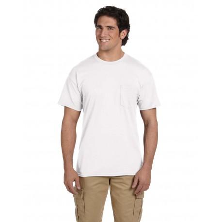 G830 Gildan G830 Adult 5.5 oz., 50/50 Pocket T-Shirt WHITE