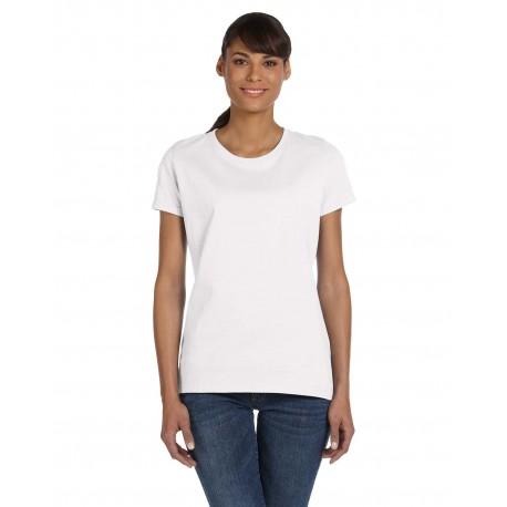 L3930R Fruit of the Loom L3930R Ladies' 5 oz., HD Cotton T-Shirt WHITE