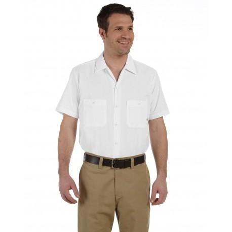 LS535 Dickies LS535 Men's 4.25 oz. Industrial Short-Sleeve Work Shirt WHITE