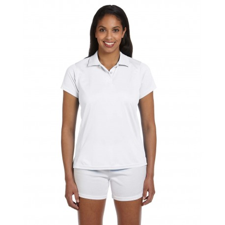 M315W Harriton M315W Ladies' 4 oz. Polytech Polo WHITE
