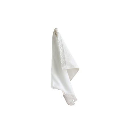 T101 Towels Plus T101 Fringed Spirit Towel WHITE