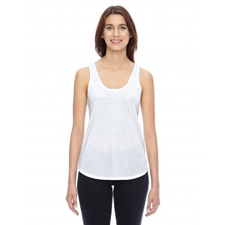 04031C1 Alternative 04031C1 Ladies' Shirttail Satin Jersey Tank WHITE