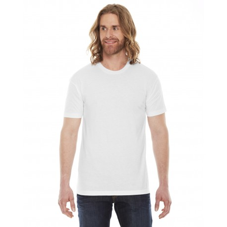 BB401 American Apparel BB401 Unisex Poly-Cotton USA Made Crewneck T-Shirt WHITE