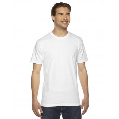 2001 American Apparel 2001 Unisex Fine Jersey USA Made T-Shirt WHITE