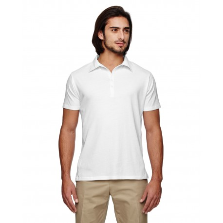 EC2505 Econscious EC2505 Men's 4.4 oz., 100% Organic Cotton Jersey Short-Sleeve Polo WHITE