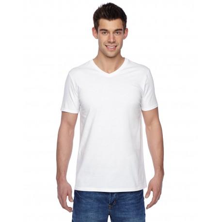 SFVR Fruit of the Loom SFVR Adult 4.7 oz. Sofspun Jersey V-Neck T-Shirt WHITE