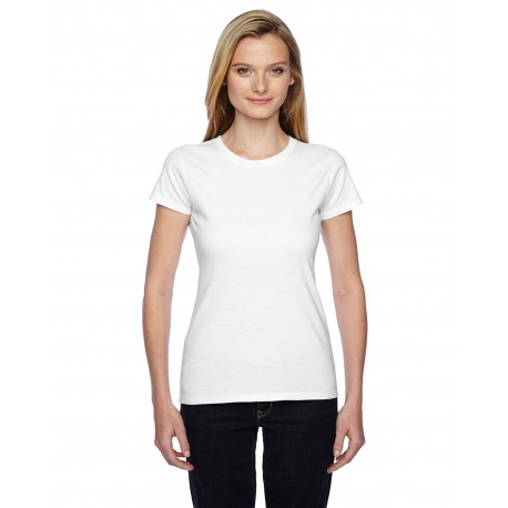 SSFJR Fruit of the Loom SSFJR Ladies' 4.7 oz. Sofspun Jersey Junior Crew T-Shirt WHITE