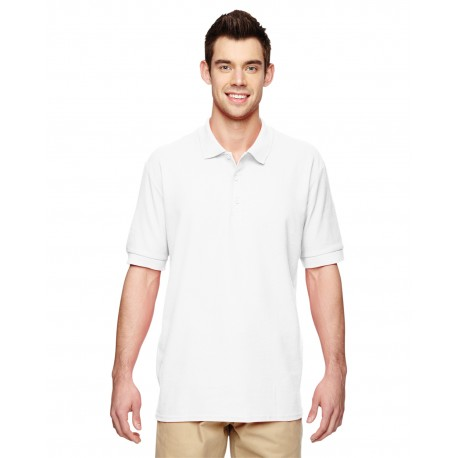 G828 Gildan G828 Adult Premium Cotton Adult 6.6 oz. Double Pique Polo WHITE